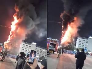 """""""Incendiu la bradul din centrul Sucevei"""", o farsă MSGA care s-a propagat rapid, fiind considerată știre reală"""