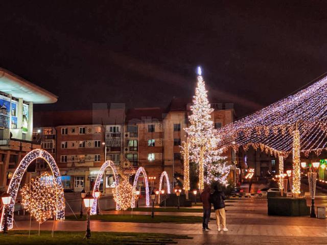 Iluminat festiv în municipiul Suceava