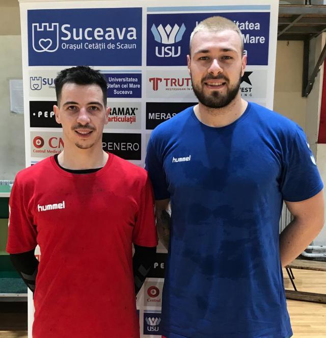 Noii jucători ai celor de la CSU din Suceava, Cătălin Costea şi Bogdan Păunescu