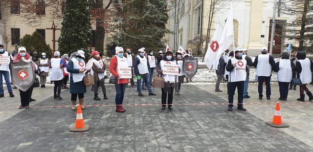 Protestul sindicaliştilor SANITAS