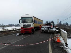 Impactul a avut loc pe un pod în curbă