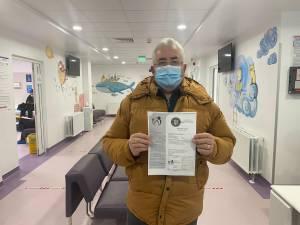 Ion Lungu a primit adeverința de vaccinare împotriva Covid -19