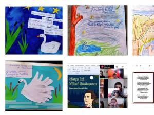 """""""Dor de Eminescu"""", proiect online la Școala Gimnazială Nr. 4 Suceava"""