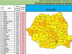 Suceava, în topul județelor cu cele mai multe cazuri noi de coronavrius