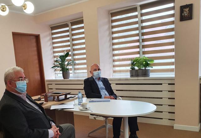 Primarul Sucevei, Ion Lungu, la discuțiile cu conducerea Agenției de Dezvoltare Nord Est