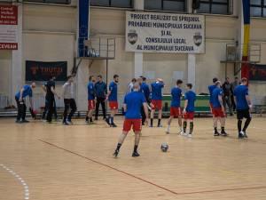 Handbaliștii suceveni se antrenează în vederea următorului meci din Liga Zimbrilor. Foto Codrin Anton (Fotosport)