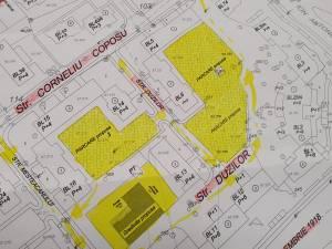 Distribuirea terenurilor eliberate de garaje – grădiniță și trei parcări rezidențiale