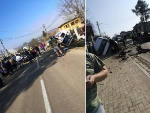 Mașinile implicate în accident. Foto: Facebook Dănuţ Ghiata