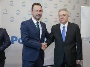Liderul PMP Cristian Diaconescu şi Marian Andronache
