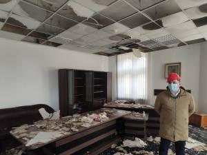 Biroul subprefectului Daniel Prorociuc este printre cele mai afectate