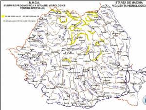 Cod galben de inundații pe râurile Suceava, Moldova și Bistrița