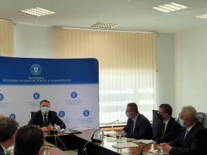 Primarul Sucevei, prezent la discuțiile de la sediul Ministerului Dezvoltării Lucrărilor Publice și Administrației, în prezența ministrului Attila Cseke
