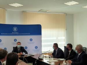 Primarul Sucevei, prezent la discuțiile de la  sediul Ministerului Dezvoltării, Lucrărilor Publice și Administrației, în prezența ministrului Attila Cseke