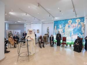 """Vernisajul Expoziției """"Mănăstirea Voroneț, 533 de ani de la înființare, 30 de ani de la redeschidere"""" Foto credit Basilica.ro  Raluca Ene"""