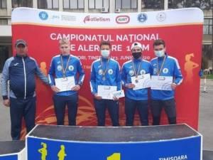 Echipa de juniori a CSM Dorna Vatra Dornei a cucerit medalia de bronz la Naţionalele de atletism