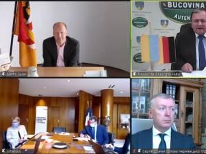 Gheorghe Flutur a reluat discuțiile cu partenerii externi ai județului Suceava