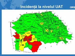 Harta incidenta pe localitati