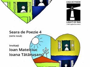Poetul Ioan Mateiciuc și poeta Ioana Tătărușanu, invitați, sâmbătă, la Seara de poezie