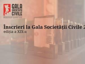 S-a dat startul înscrierilor de proiecte la Gala Societății Civile 2021