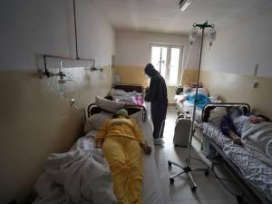 Salon din secția Covid a Spitalului Vatra Dornei