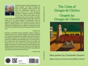 """Volumul """"Orașele lui Giorgio de Chirico"""", semnat de Constantin Severin, publicat recent într-o ediție bilingvă română-engleză"""