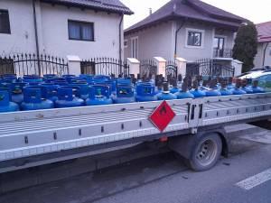 Aproape 200 de butelii GPL, indisponibilizate în urma unui control