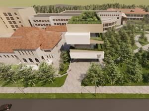 O simulare a încadrării noii clădiri în peisajul Parcului Areni