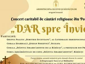 """""""DAR spre Înviere"""", concert caritabil online organizat de Arhiepiscopia Sucevei și Rădăuților"""