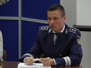 Comisarul-șef Ionuț Epureanu, purtătorul de cuvânt al poliții județene