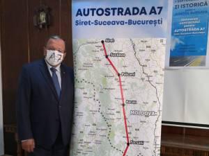 Președintele CJ Suceava, Gheorghe Flutur, este optimist că autostrada A 7 va fi construită până la Siret