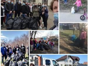"""15 acțiuni de ecologizare, peste 200 de voluntari și sute de deșeuri adunate în Rădăuți, în cadrul campaniei ,,Încurajăm faptele bune!"""""""