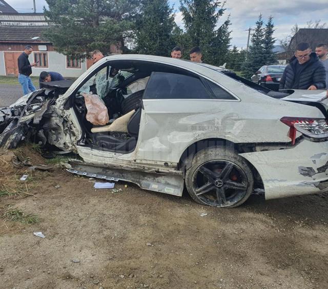 Accident violent la Bilca