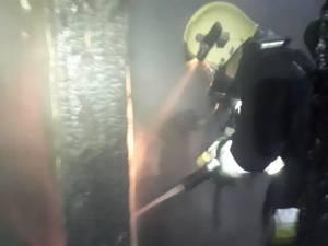 Incendiu la un gater din Poiana Stampei