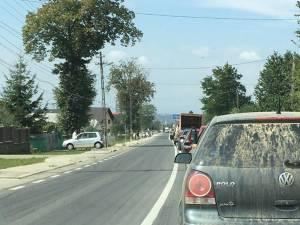 Traficul blocat în zona accidentului