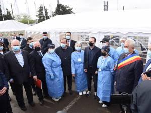 Florin Cîțu a venit la Suceava pentru a impulsiona campania de vaccinare