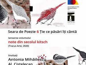 """Seară de poezie dedicată lansării volumului """"note din secolul kitsch"""", semnat de suceveanca Antonia Mihăilescu"""