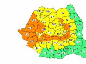 Un nou Cod Galben de ploi a fost emis pentru întreg județul Suceava