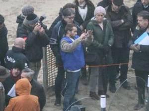 Fotografie de la reconstituirea faptei sursa 7sur7.be