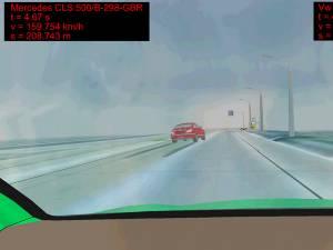 Simularea accidentului