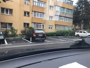 Parcarea în care s-au găsit biletele în parbrize