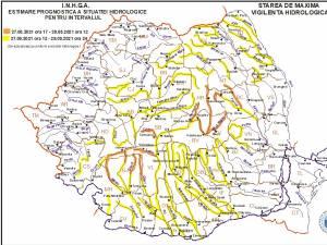 Cod galben de inundații pentru râurile Suceava, Moldova și Bistrița