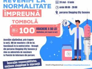 Tombolă cu premii pentru cei care se vaccinează la Shopping City Suceava