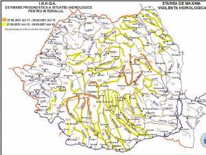 Administrația Bazinală de Apă Siret Cod galben de inundații pentru râurile Suceava, Moldova și Bistrița