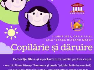 """Filme pentru copii şi tablouri """"caritabile"""", pe 1 iunie, la Fălticeni"""