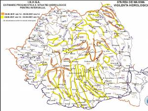 Codul galben de inundații, prelungit până duminică după-amiază