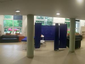 """Centrul de vaccinare anticovid de la Universitatea """"Ștefan cel Mare"""" Suceava se deschide luni, 31 mai Foto: Facebook Mihai Dimian"""