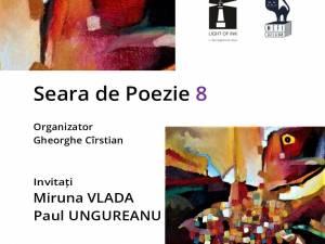 Poeții Miruna Vlada și Paul Ungureanu, invitați la o nouă seară de poezie organizată de Casa de Poezie Light of ink