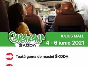 Expoziție de mașini marca Škoda și ateliere de creație pentru copii, la Iulius Mall Suceava