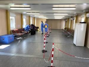 Centrul de vaccinare de la aeroport