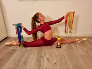 Mara Emilia Frunză, în vârstă de 10 ani, campioană europeană la dans contemporan, titlu obținut în Croația